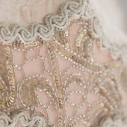 Coronation Wedding Cake Victorian Lampshade flapper dress detail