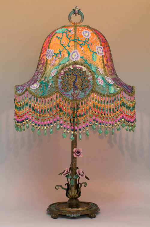Hanging Garden Peacock & Roses Victorin Lampshade