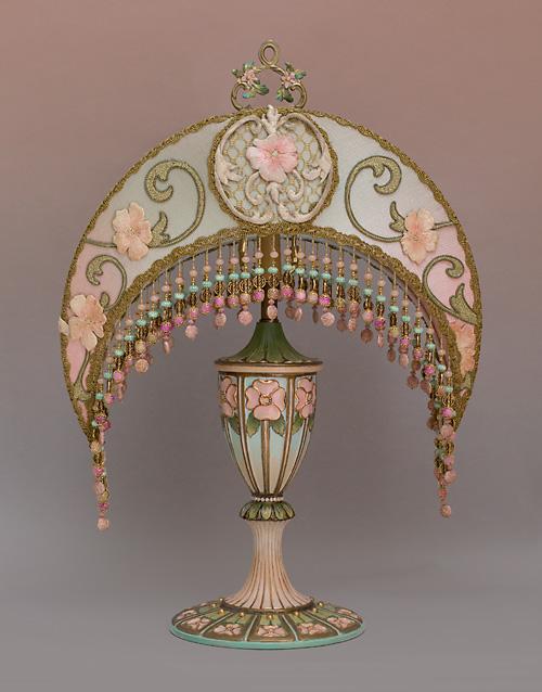 Nightshades Alphonse Mucha Crescent Moon Table Lamp