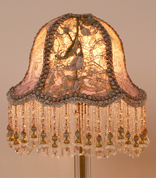 Oval Antique Beaded Lamp
