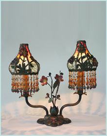 French Chenille Appliques on Lampshade