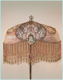 French Pink and Green Lampshade