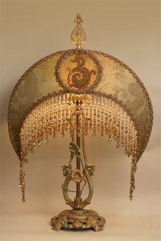 Victorian Lampshade with Moon Shade
