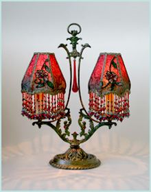 Romantic Lace Beaded Sconces on a Candelabra Base