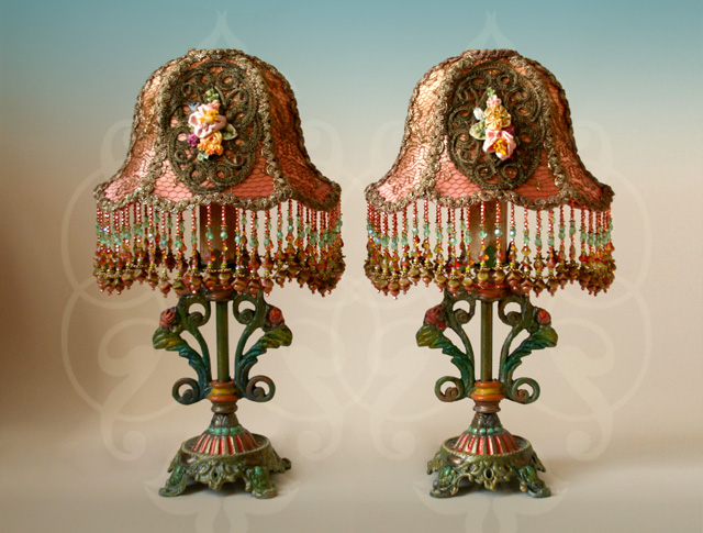 pair of psvictorian lamps