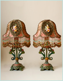 Pair of 1920s Mantle lamps