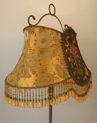 antique fabric lampshade