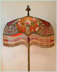 Victorian Lampshades with Roses