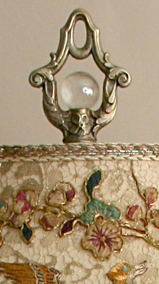 shabby tole lamp