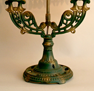 Antique lamp base