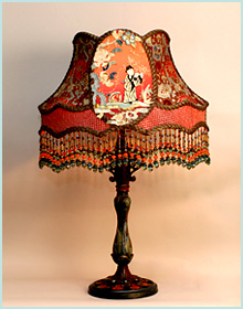 antique lamp base with chinese shade