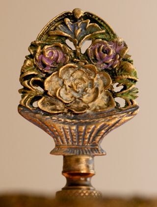 detail of victorian ribbon roses