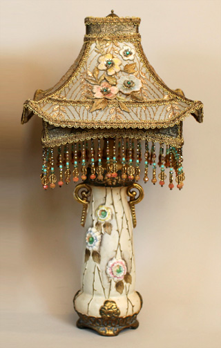 Chinoiserie Style Pagoda Lampshades on Amphora Lamps
