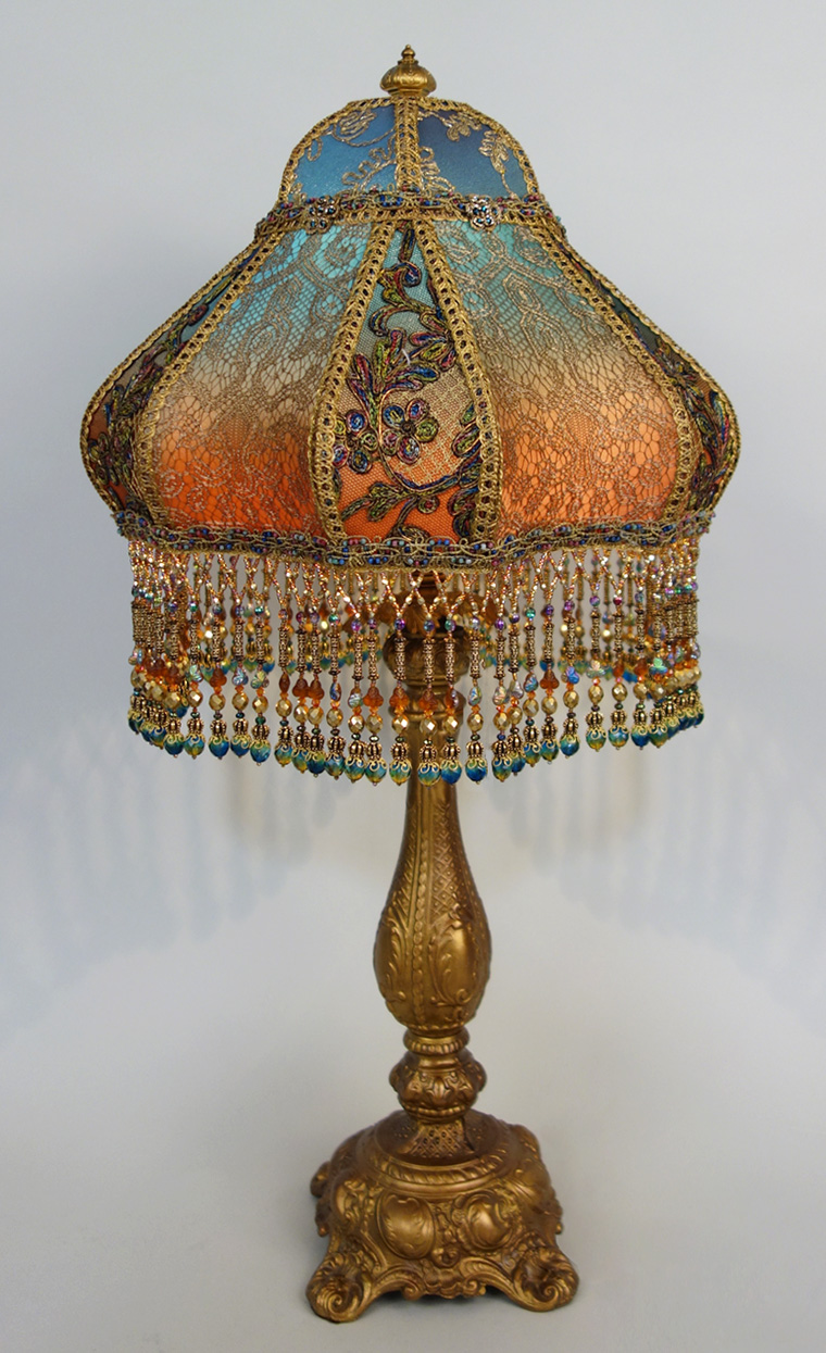 Bohemian Style Antique Beaded Lamp
