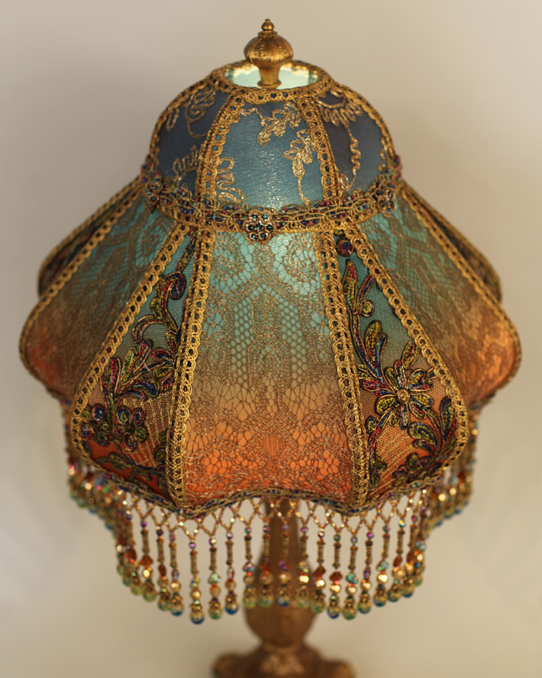 Bohemian Style Antique Beaded Lampshade