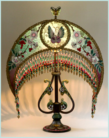Chinese Victorian Moon  Lampshade
