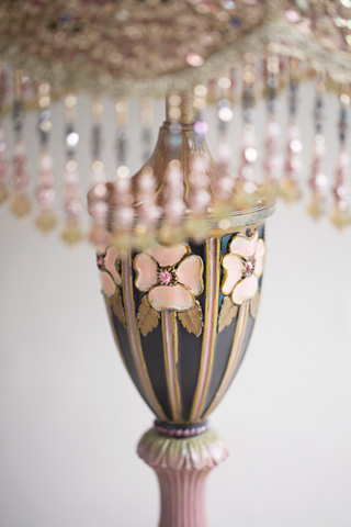 Victorian Lampshade with Rose Embroidery